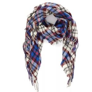 Madewell Softplaid Fringe Scarf